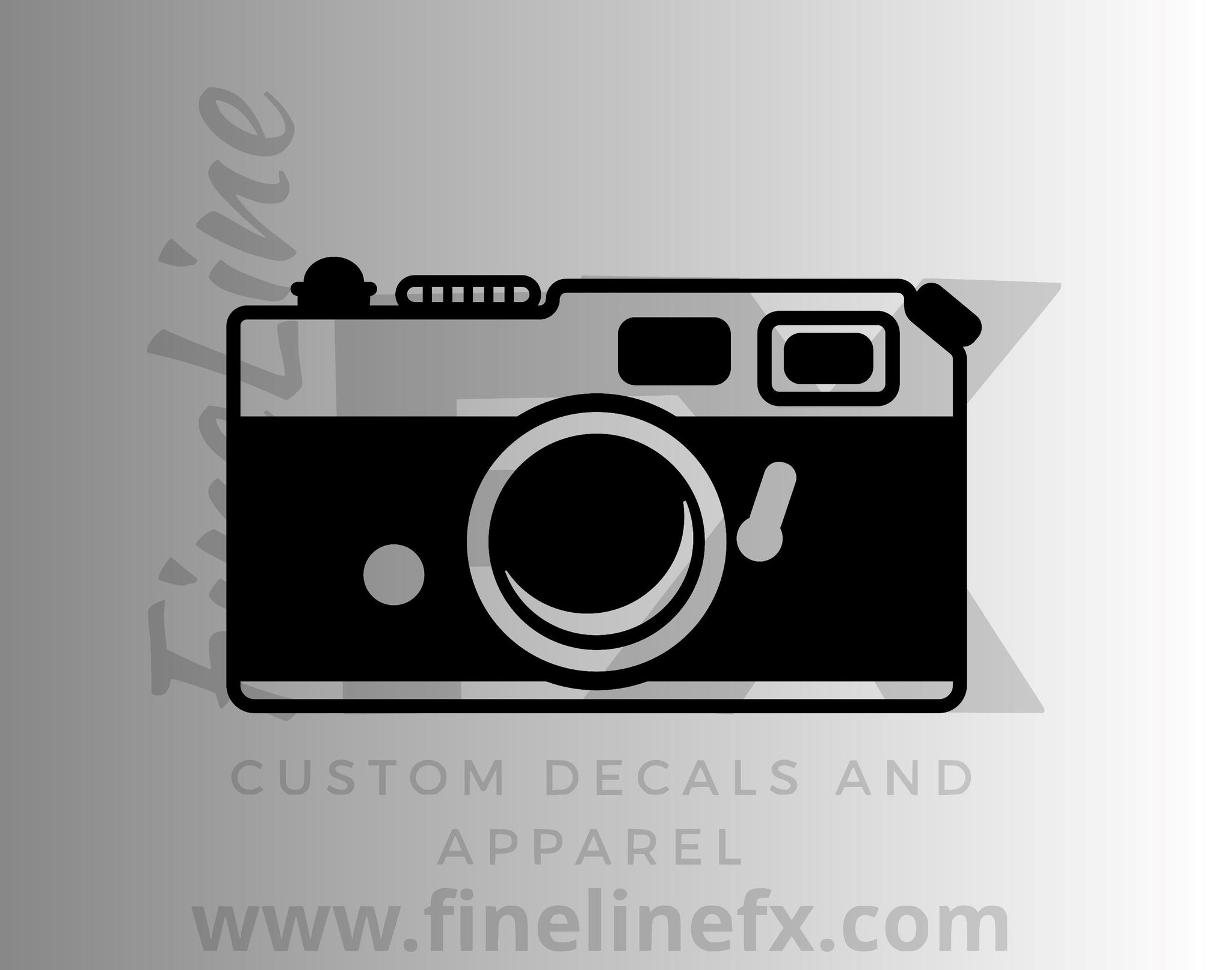 Vintage Camera Vinyl Decal Sticker