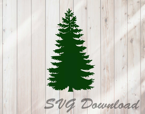 Pine Tree Christmas Tree SVG Craft Cutting File Instant Download
