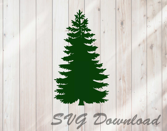 Pine Tree Christmas Tree SVG Craft Cutting File Instant Download - FineLineFX