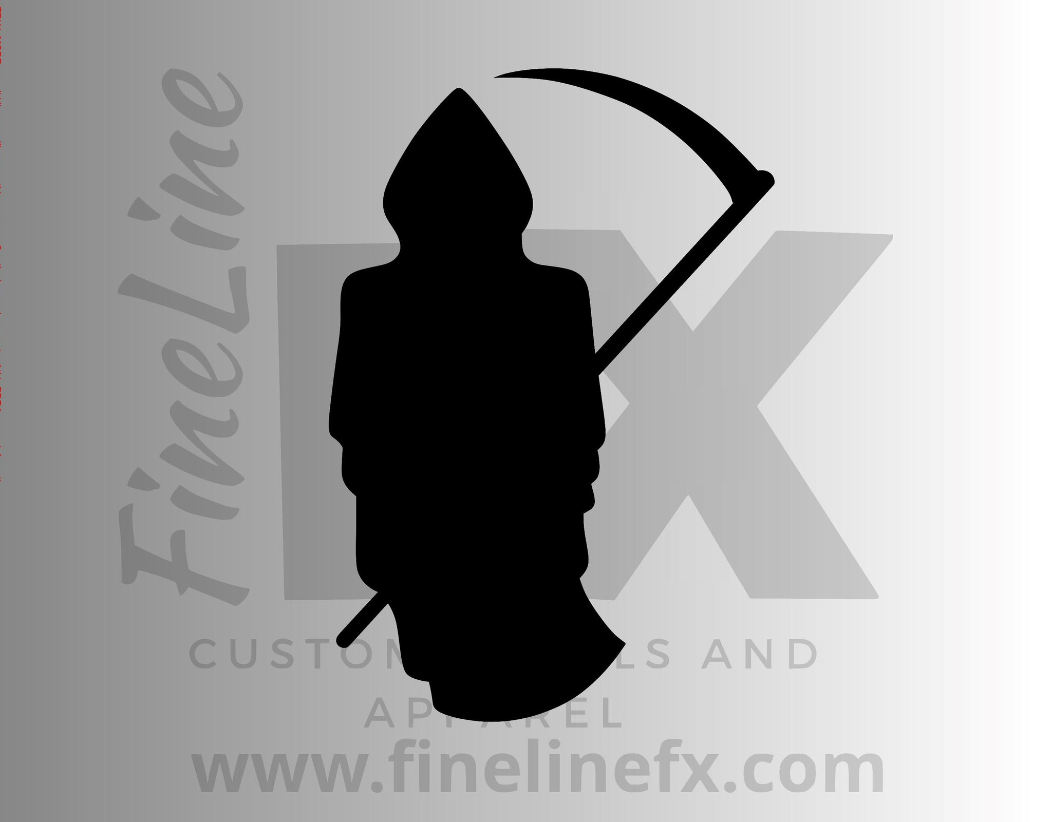 Grim Reaper Death Silhouette Vinyl Decal Sticker