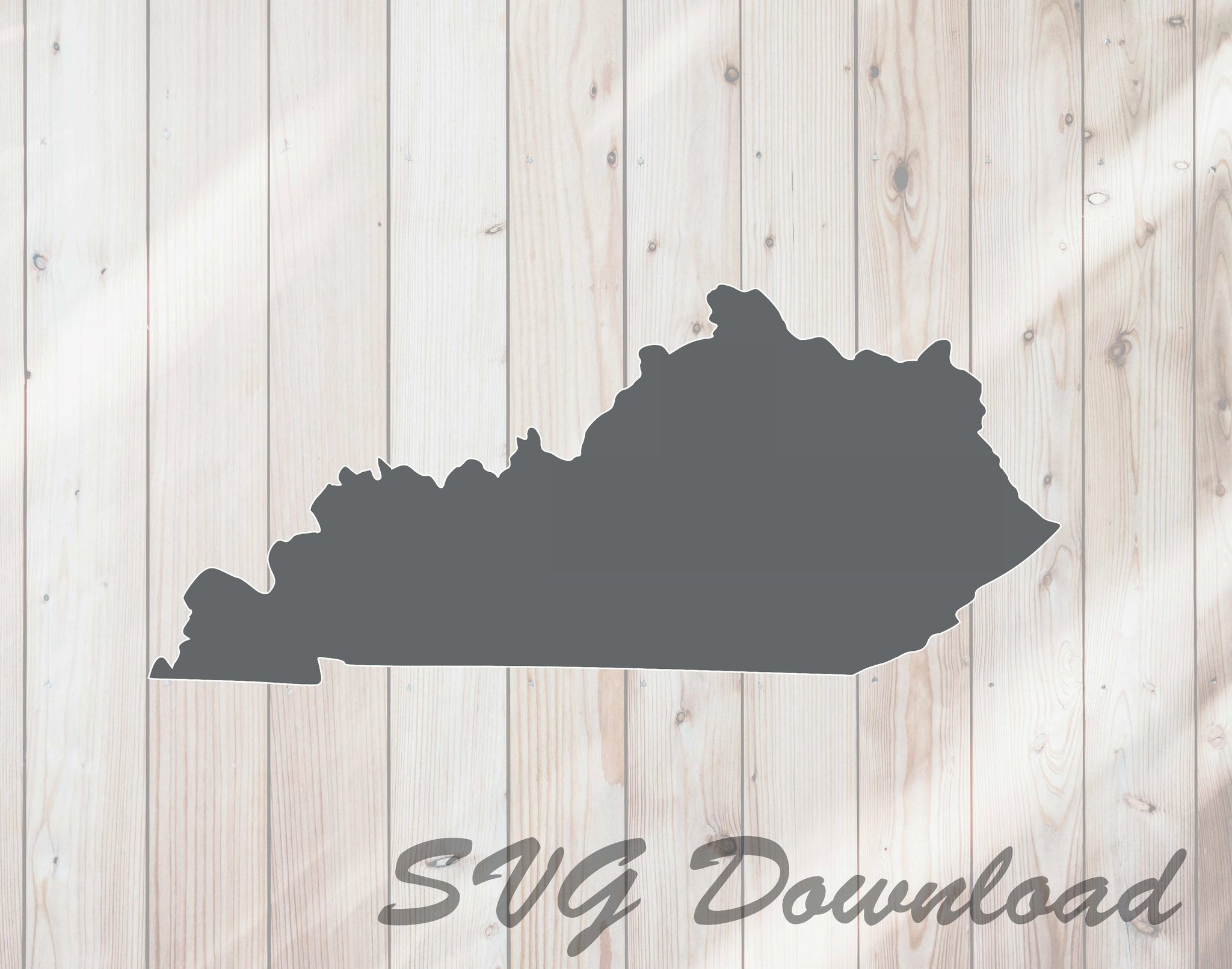 Kentucky Map State Shape SVG Craft Cutting File Instant Download