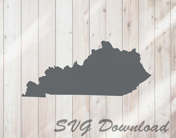 Kentucky State Shape SVG Craft Cutting File Instant Download - FineLineFX