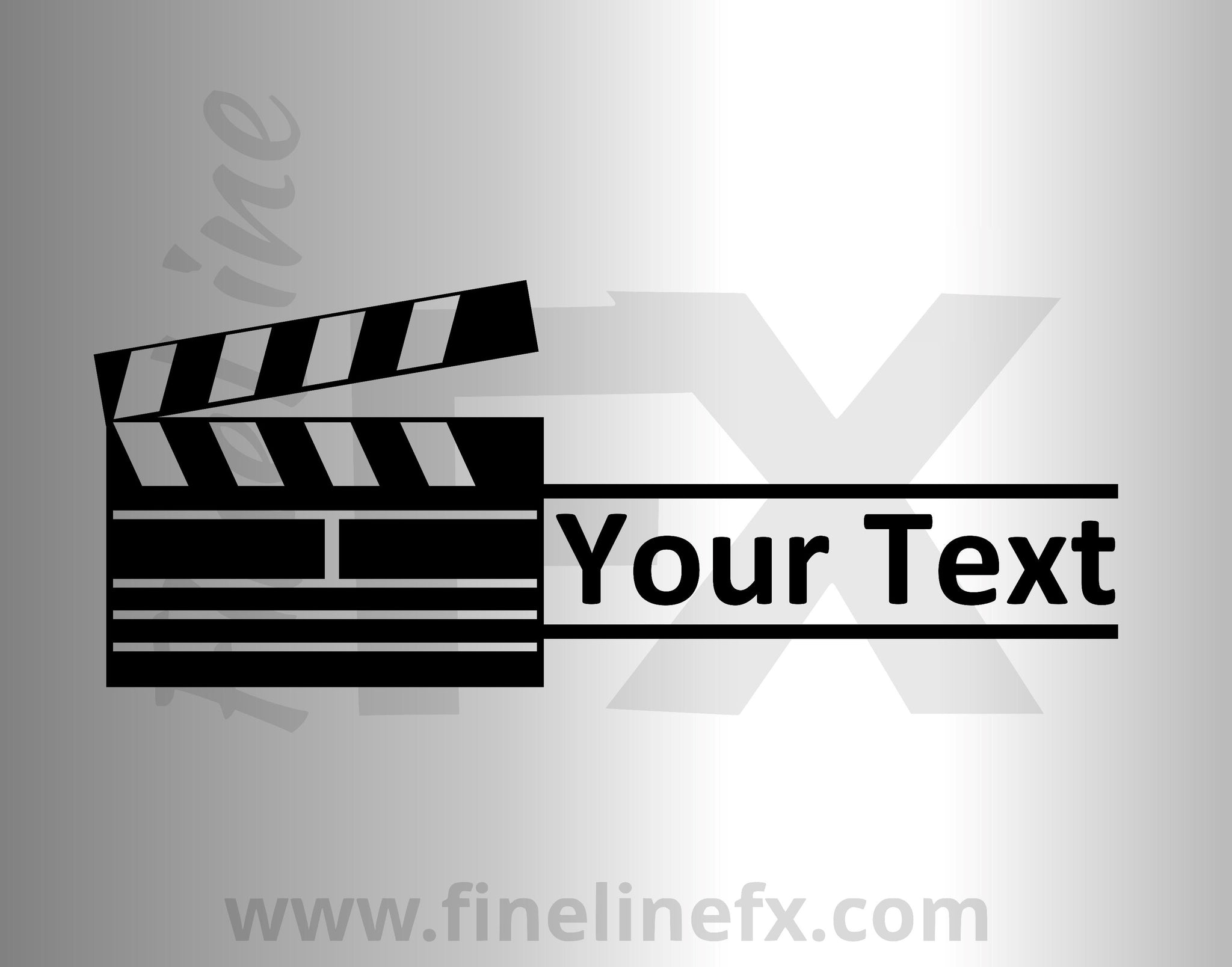 Movie Directors Clapper With Custom Text Vinyl Decal Sticker