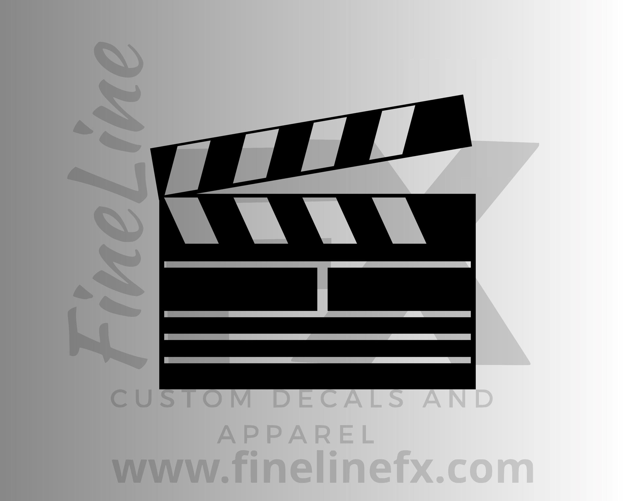 Movie Director's Clapper Vinyl Decal Sticker