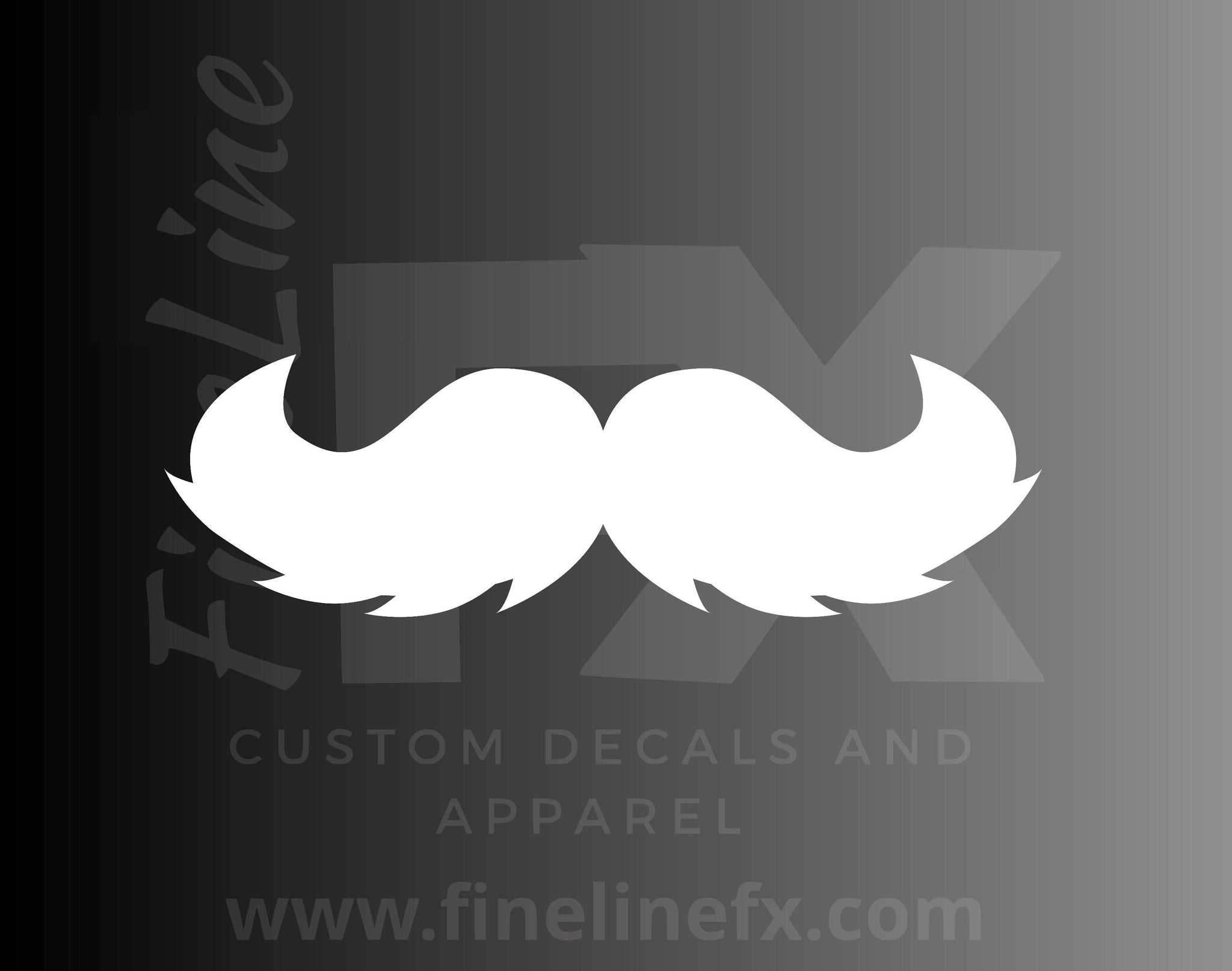Mustache Viny Decal Sticker
