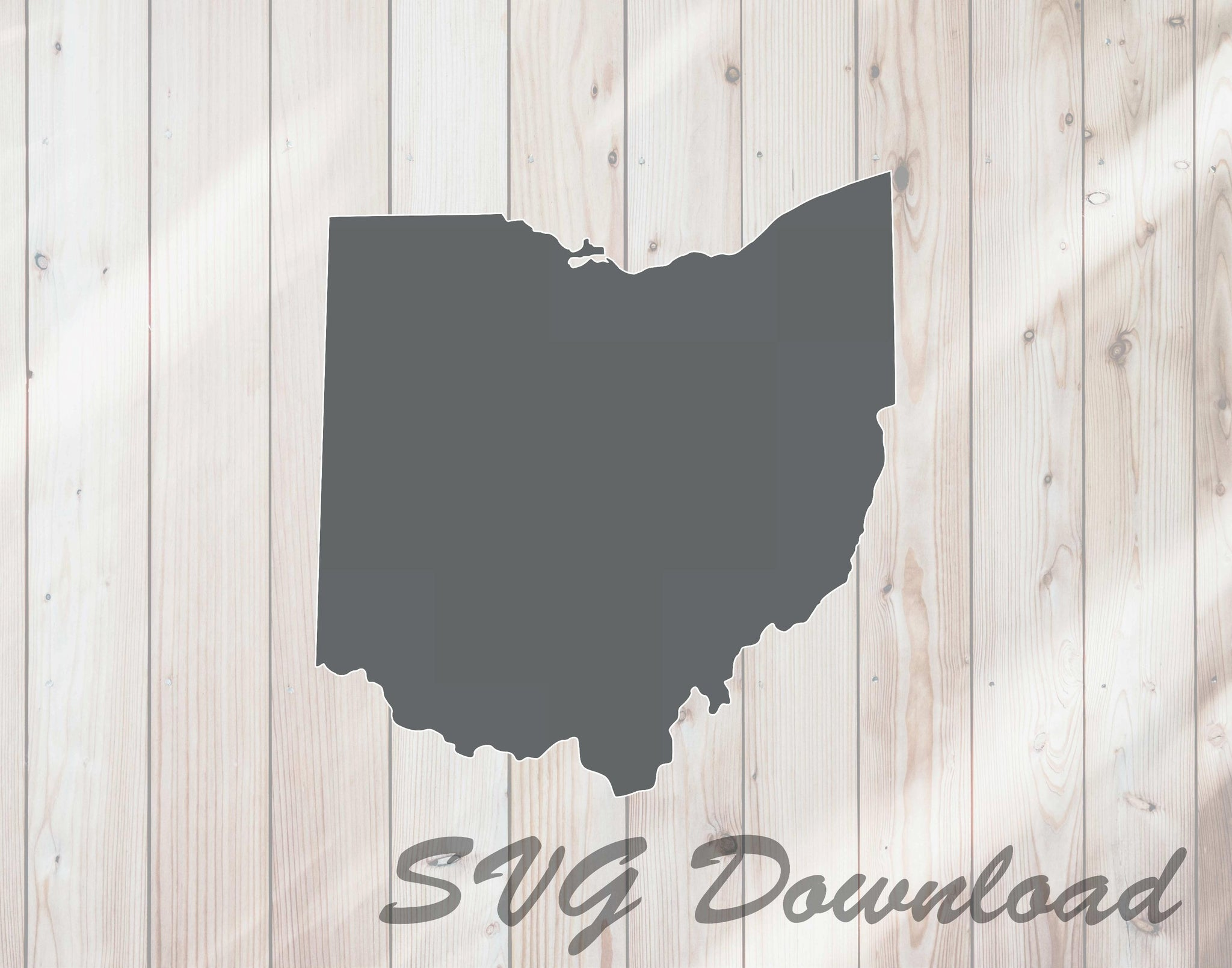 Ohio Map State Shape SVG Craft Cutting File Instant Download