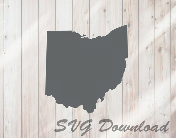 Ohio shape state outline SVG cutting file