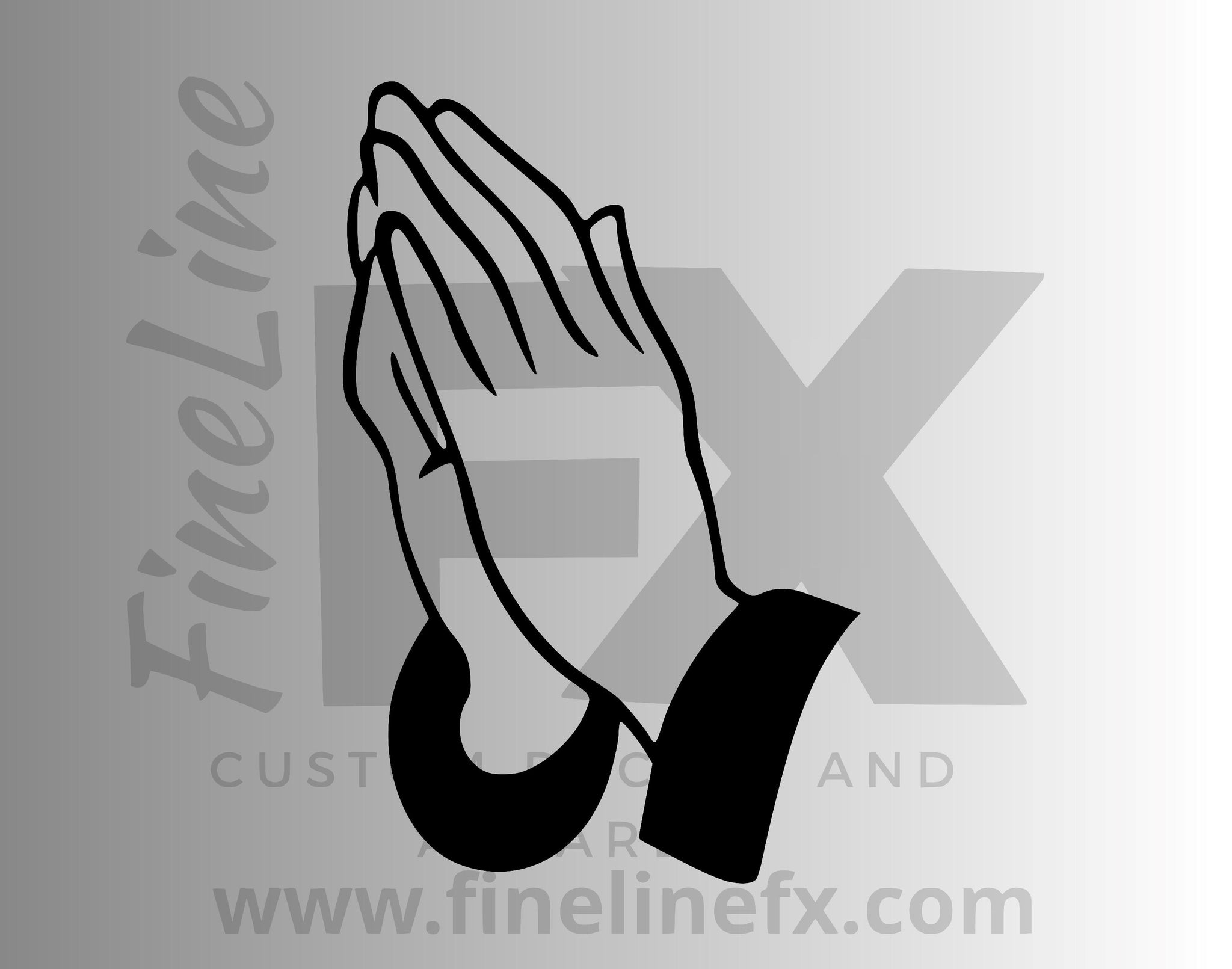 Praying Hands Vinyl Decal Sticker
