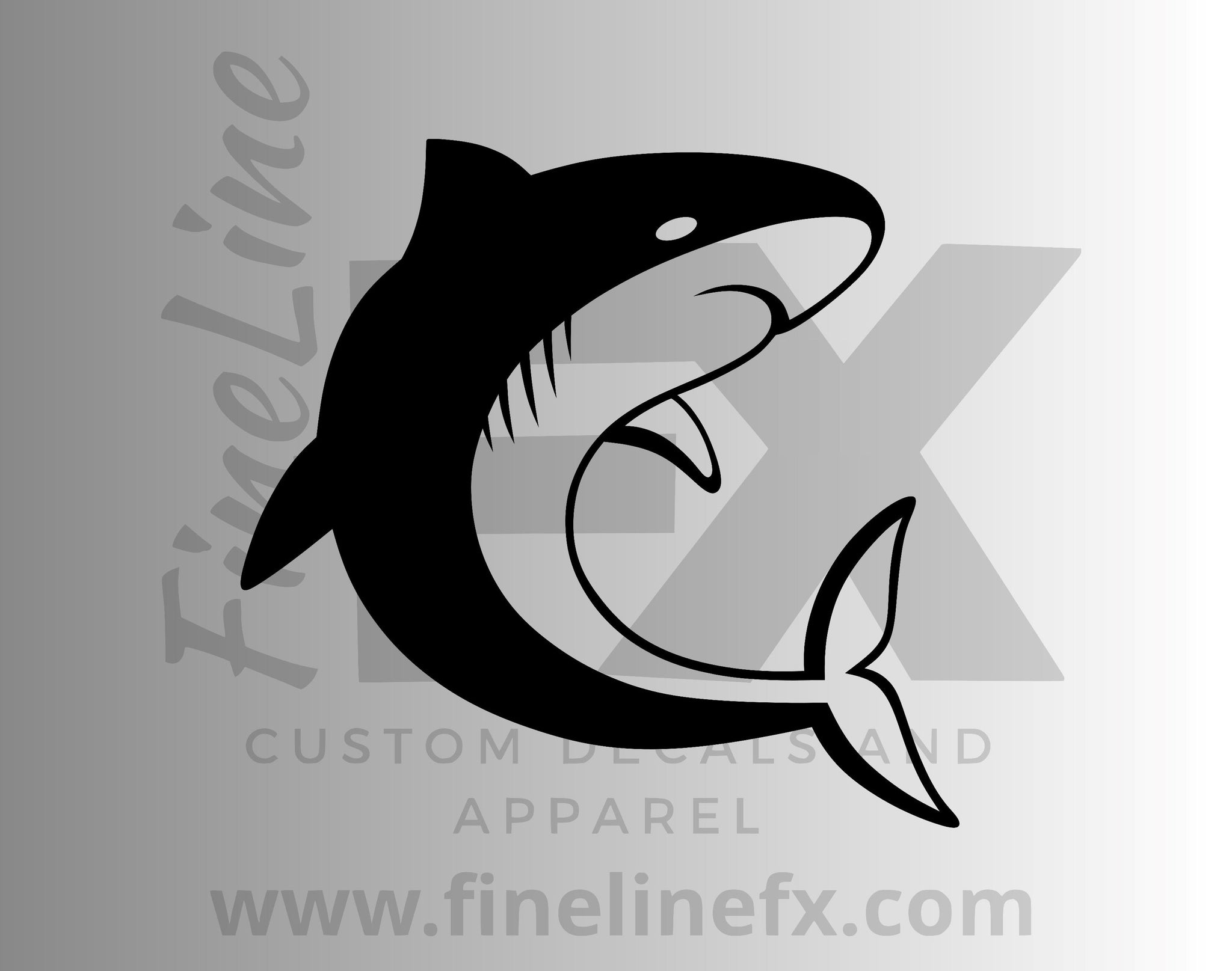 Shark Vinyl Decal Sticker