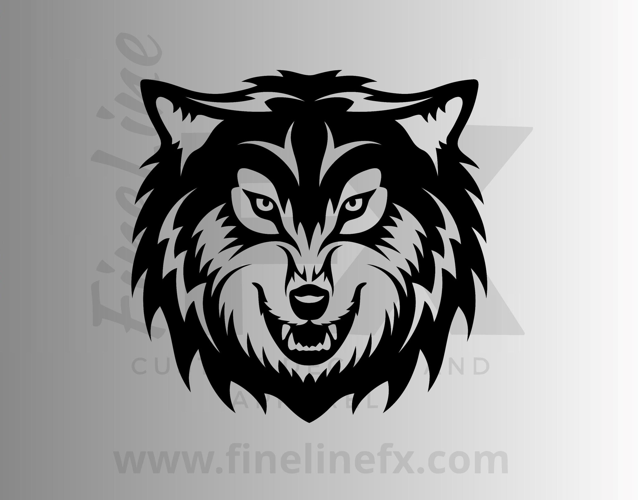 Wolf Head Vinyl Decal Sticker