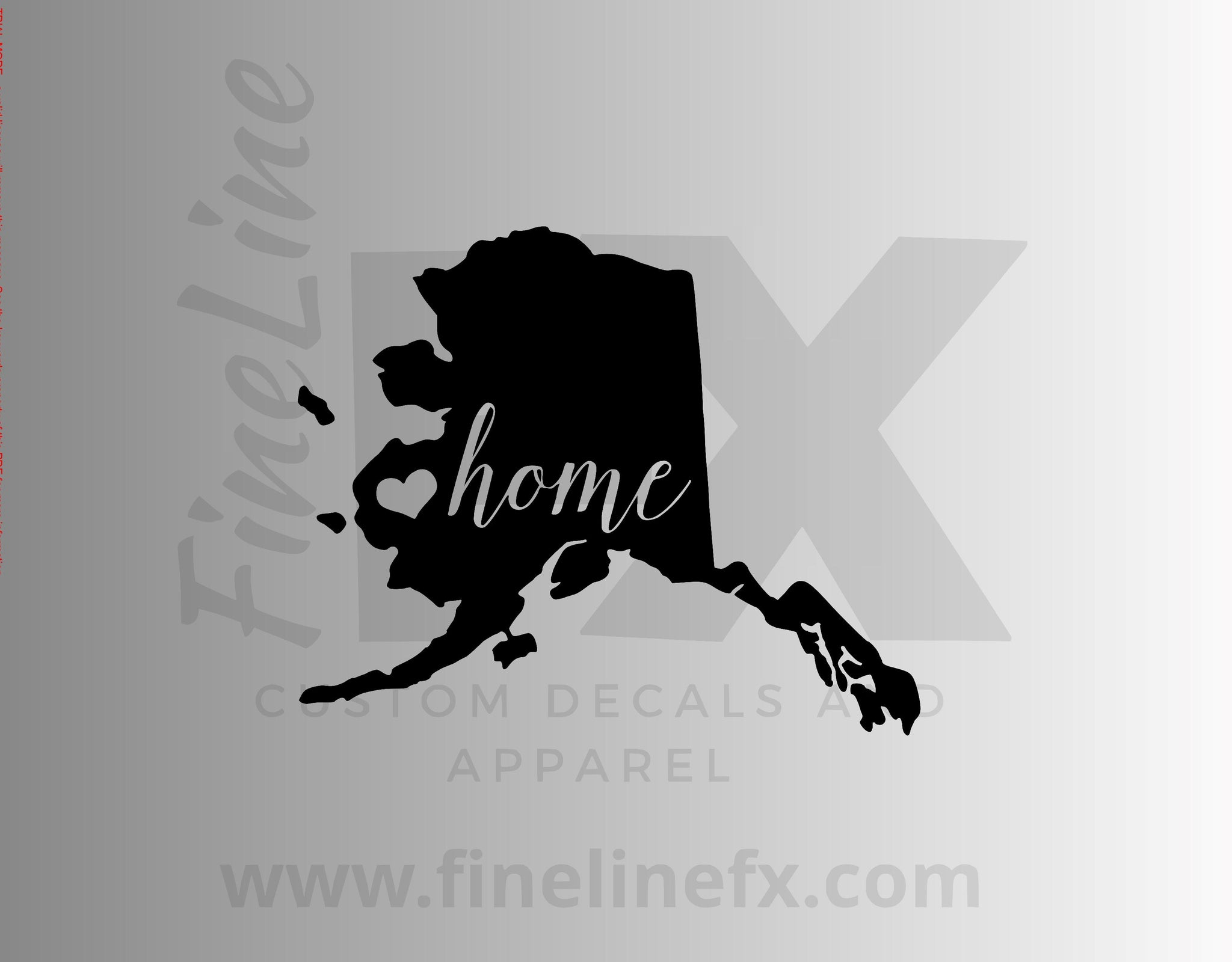 Alaska Home State Vinyl Decal Sticker