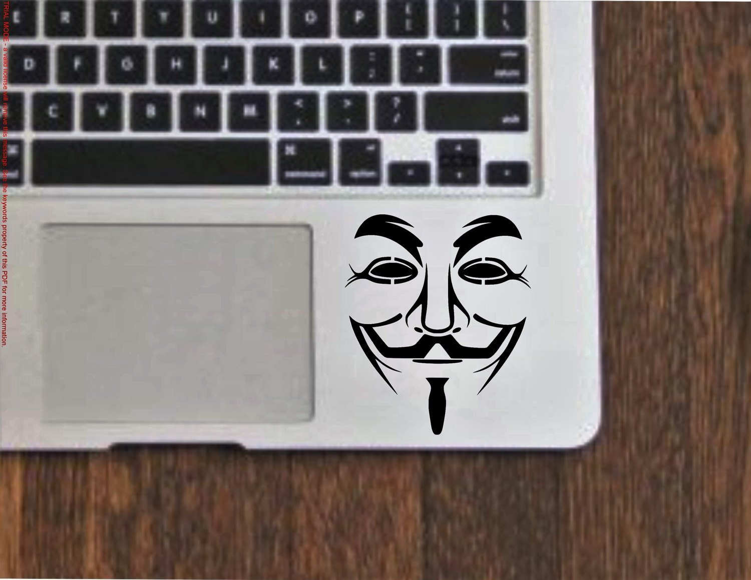 Anonymous Mask Vendetta Guy Fawkes Vinyl Decal Sticker