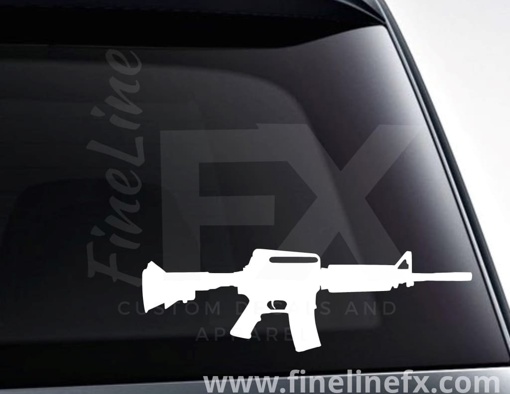 AR15 Semi Automatic Rifle Vinyl Decal Sticker
