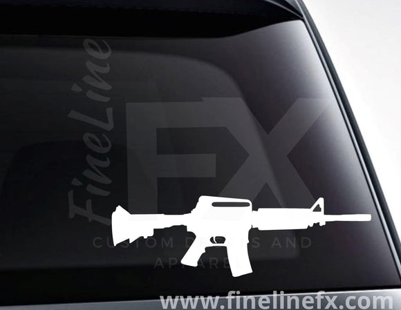 AR15 Semi Automatic Rifle Vinyl Decal Sticker - FineLineFX