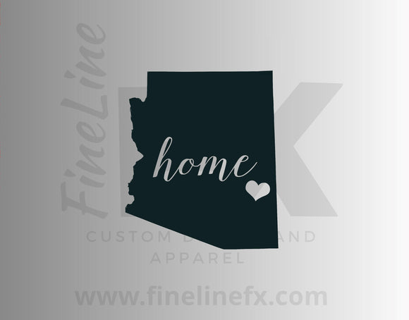 Arizona Home State Vinyl Decal Sticker - FineLineFX