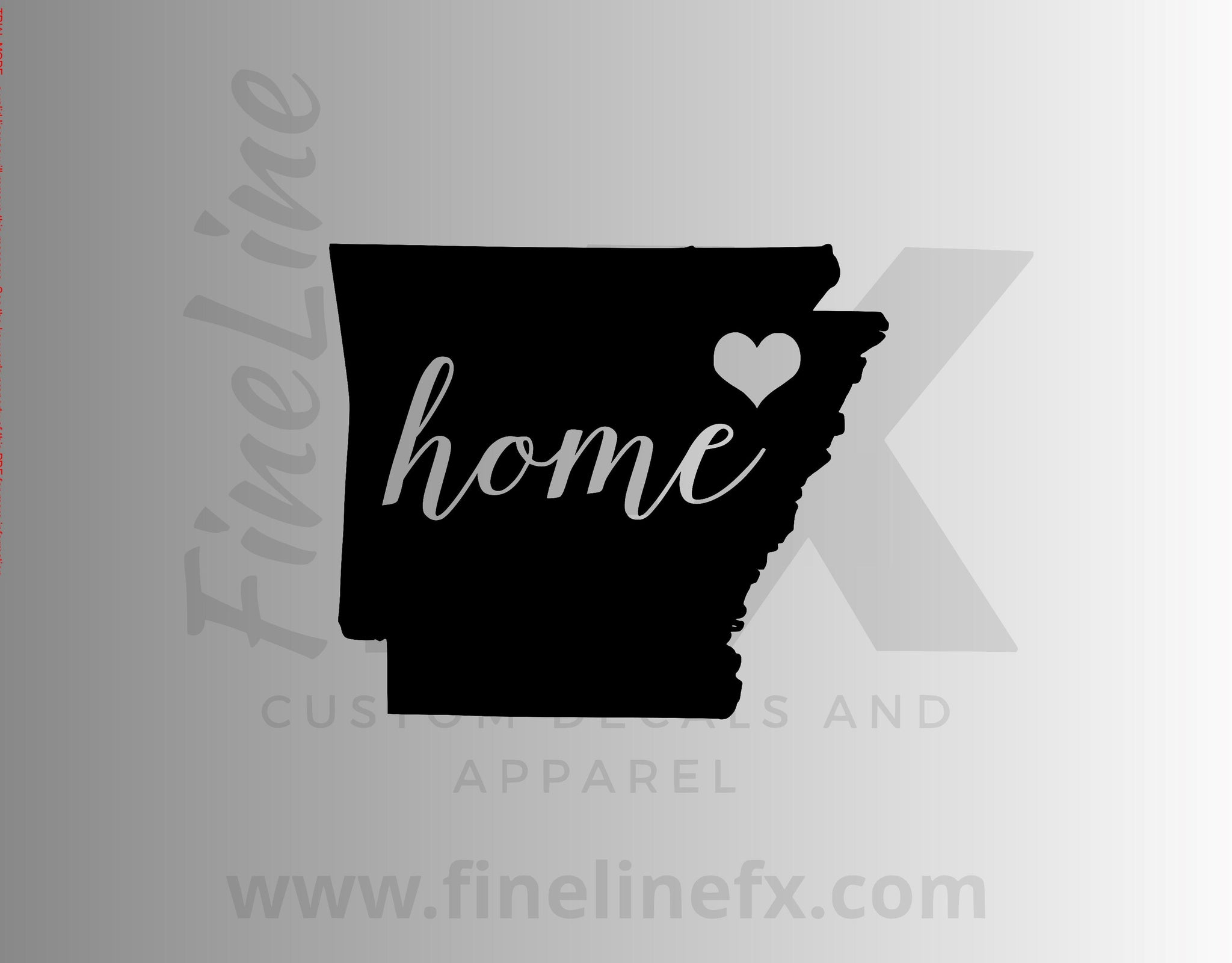 Arkansas Home State Vinyl Decal Sticker