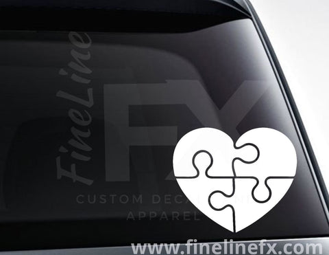 Autism Awareness Puzzle Heart Vinyl Decal Sticker