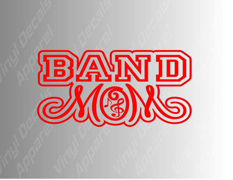 Band Mom Marching Band Mom Vinyl Decal Sticker