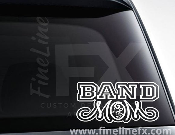 Band Mom Marching Band Mom Vinyl Decal Sticker - FineLineFX