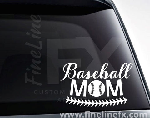 Baseball Mom Baseball Vinyl Decal Sticker