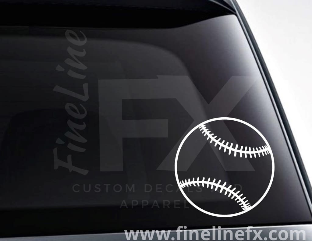 Baseball Vinyl Decal Sticker