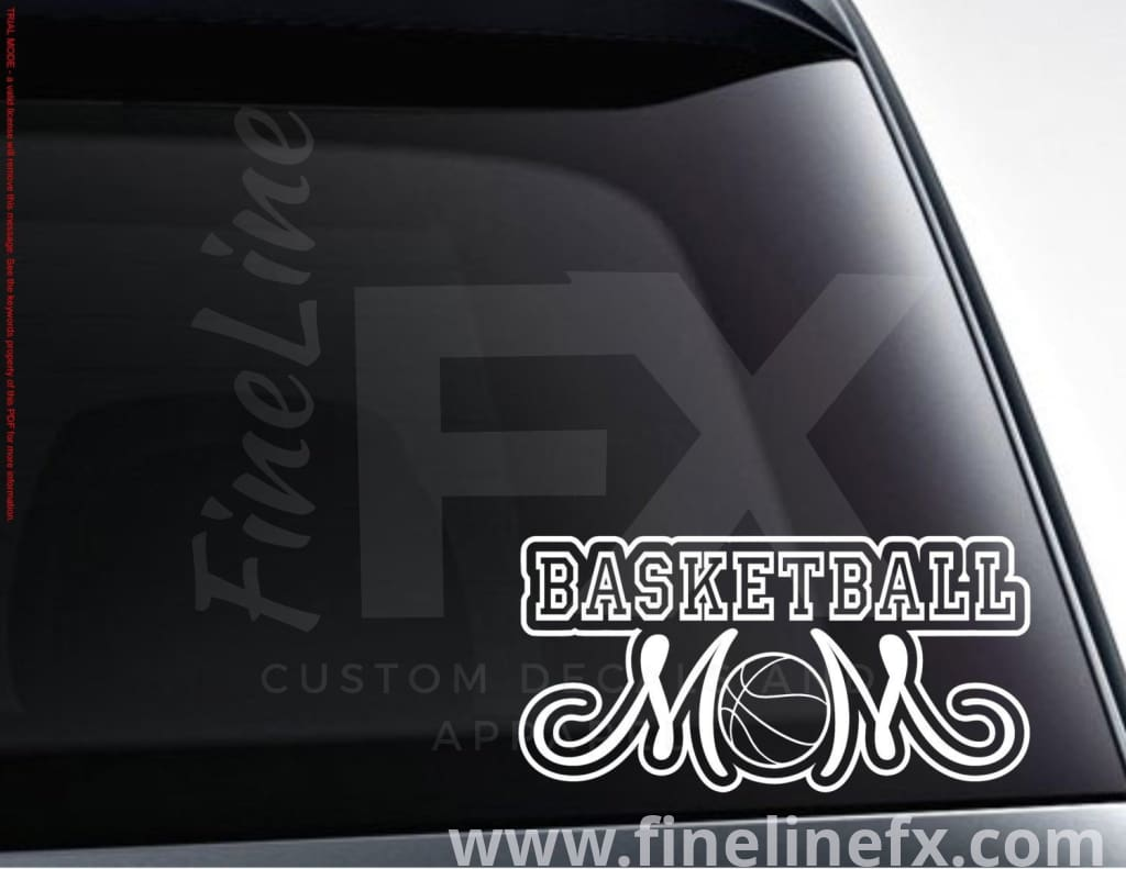 Basketball Mom Vinyl Decal Sticker