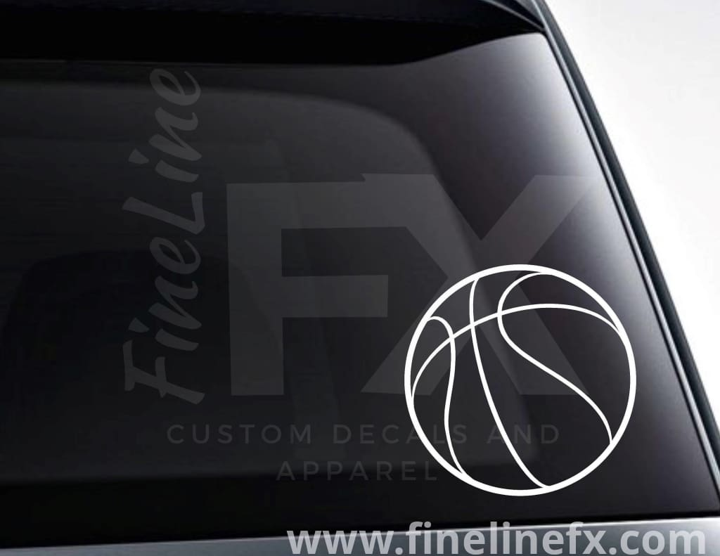 Basketball Vinyl Decal Sticker