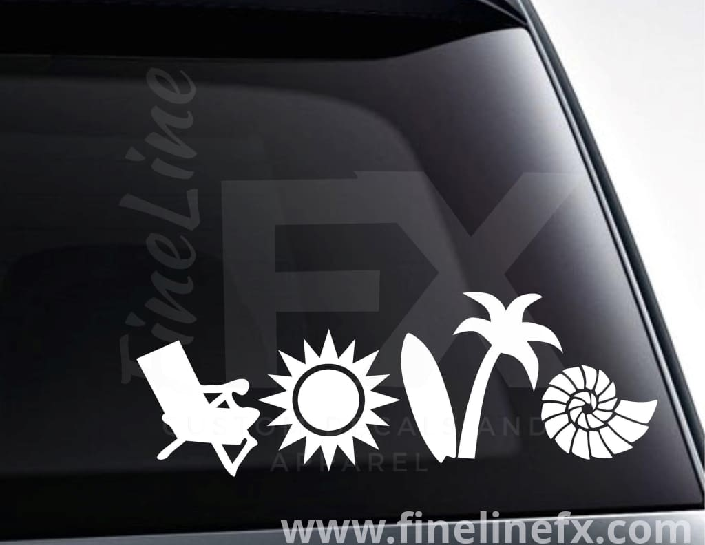 Beach Love Vinyl Decal Sticker