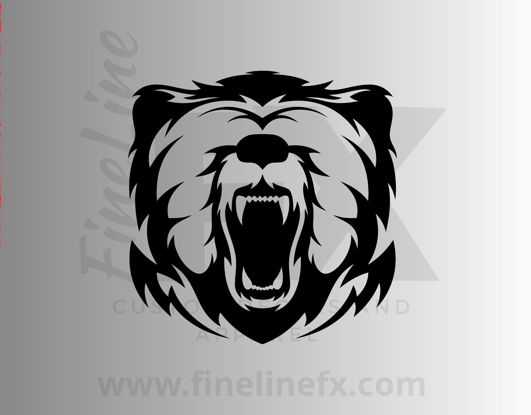 Grizzly Bear Vinyl Decal Sticker