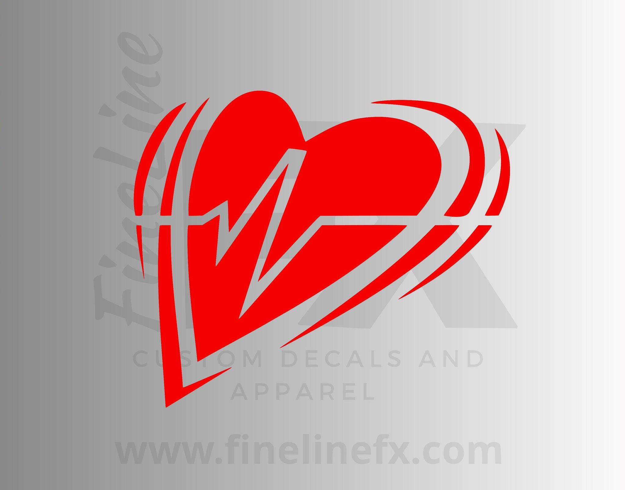 EKG Heart Heartbeat Vinyl Decal Sticker