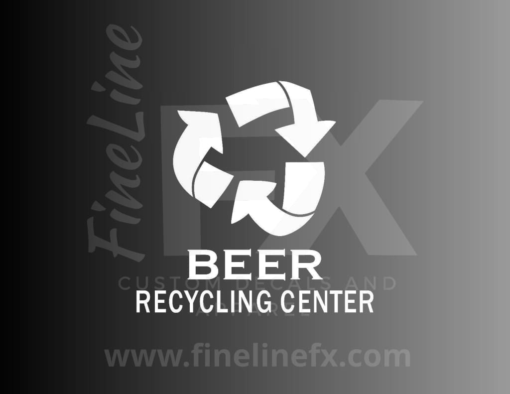 Beer Recycling Center Vinyl Decal Sticker