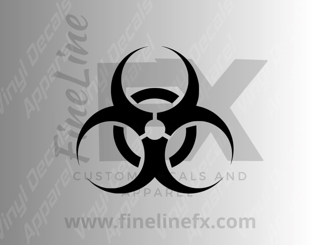 Biohazard Symbol Vinyl Decal Sticker