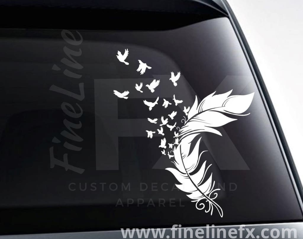 Birds From A Feather Vinyl Decal Sticker