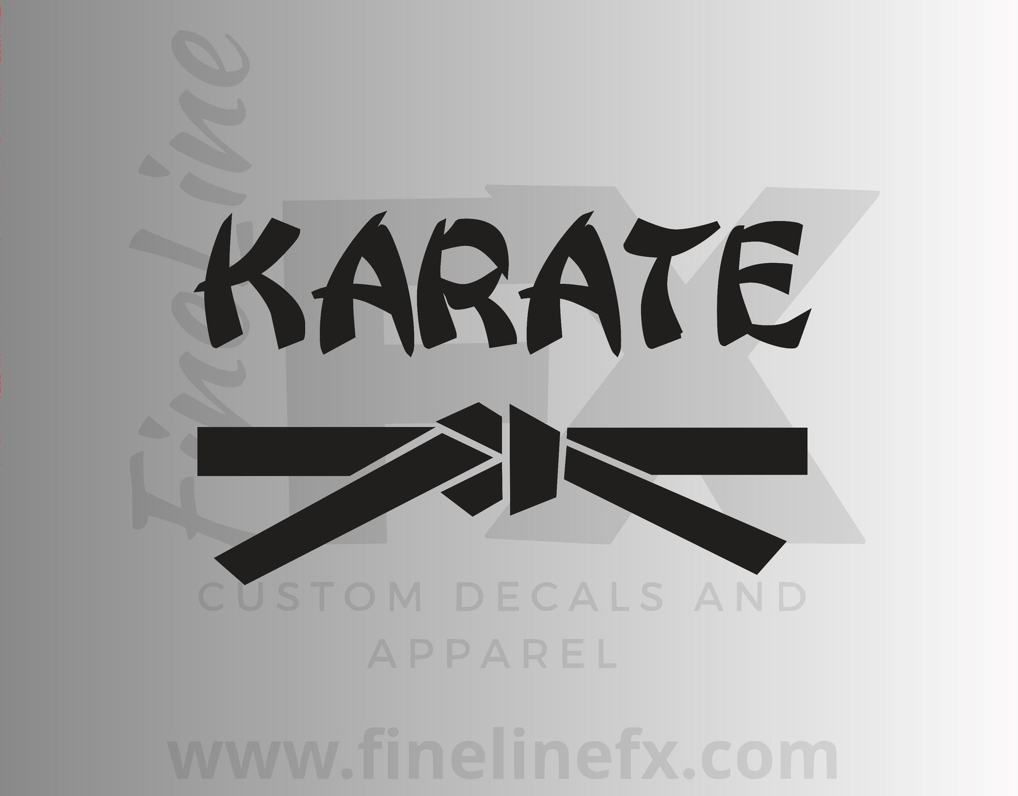 Karate Belt Martial Arts Vinyl Decal Sticker