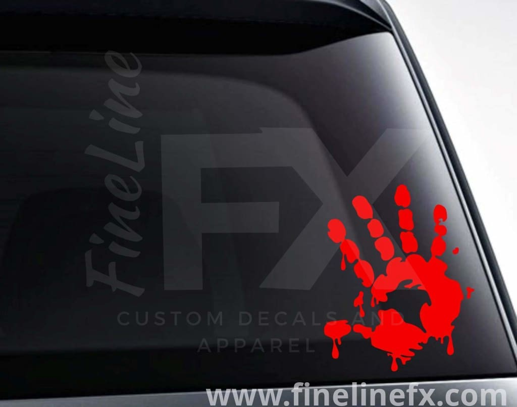 Bloody Hand Print Vinyl Decal Sticker