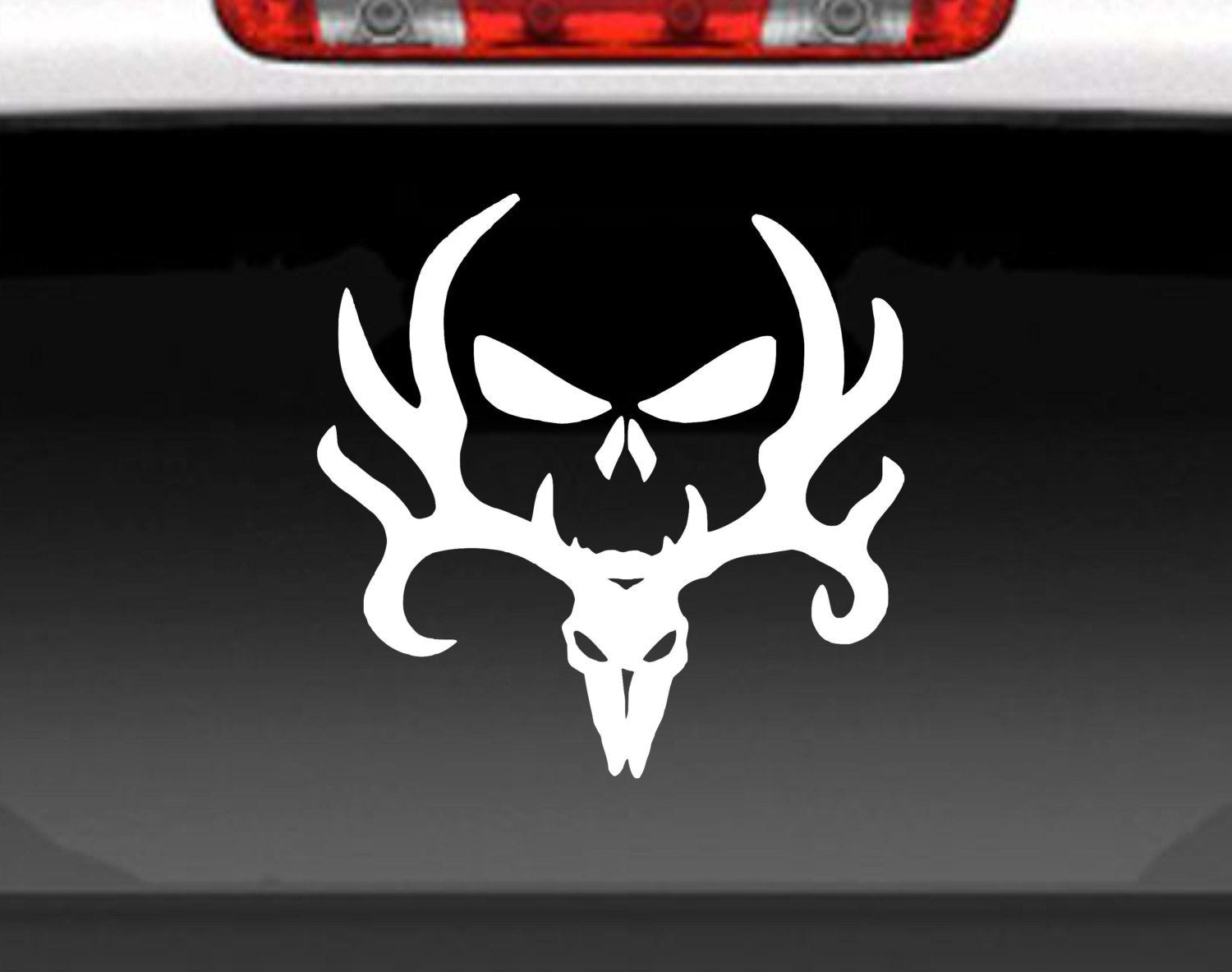Bone Collector Deer Skull Vinyl Decal Sticker