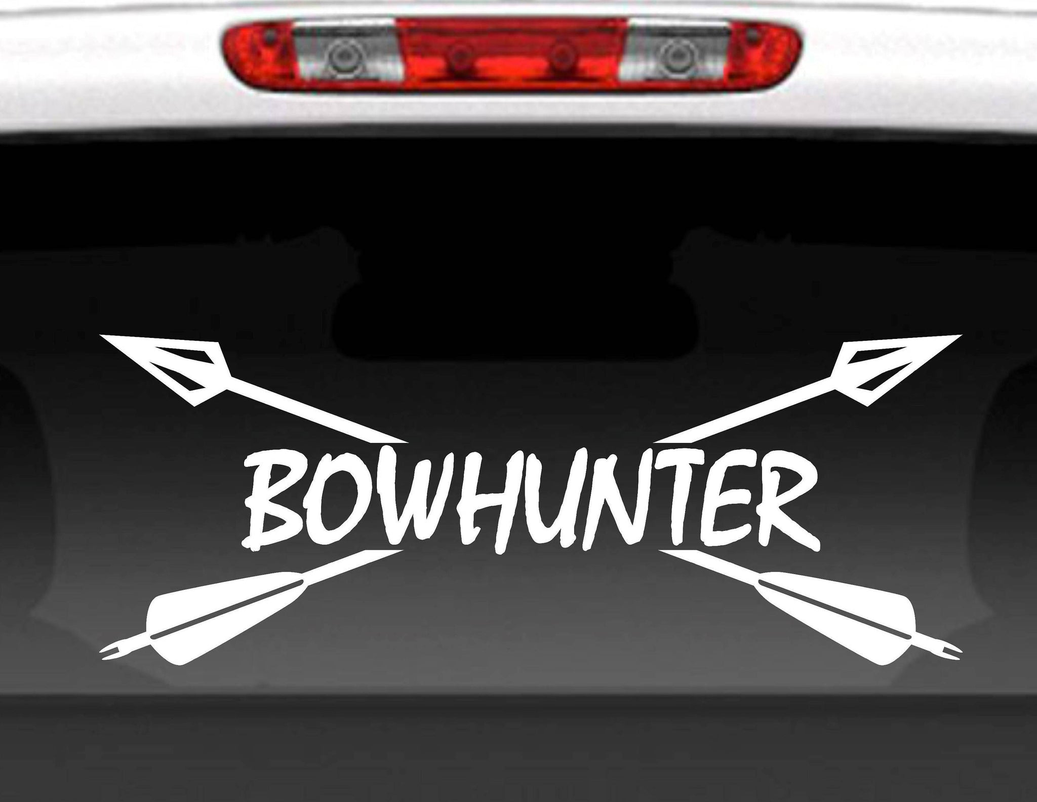Bowhunter Crossed Arrows Vinyl Decal Sticker