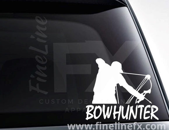 Bow Hunter Archery Hunting Vinyl Decal Sticker - FineLineFX