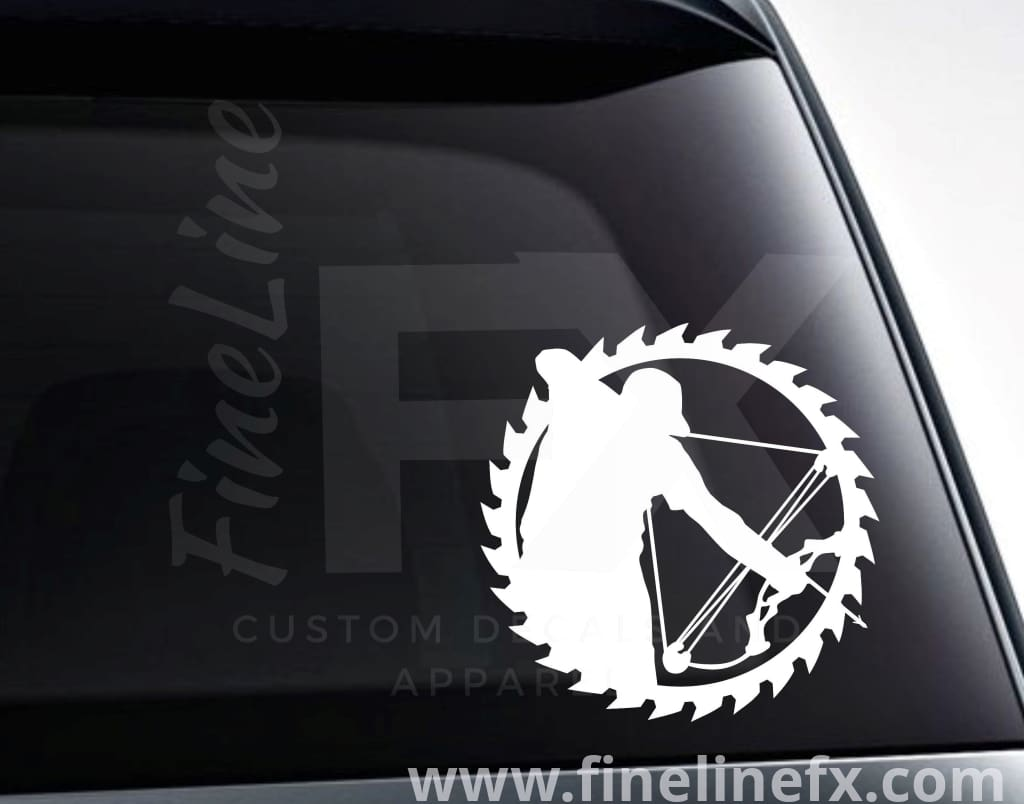 Bow Hunter Saw Blade Vinyl Decal Sticker