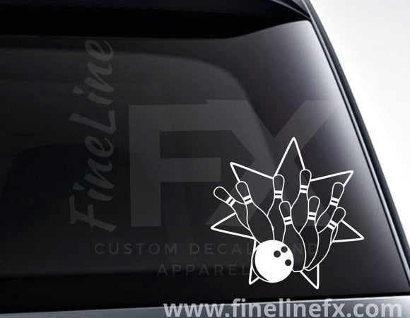 Bowling Star Vinyl Decal Sticker - FineLineFX