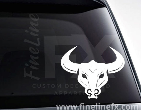 Bull Skull Vinyl Decal Sticker - FineLineFX