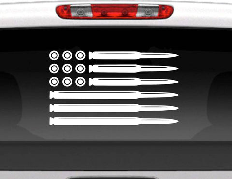 Bullet Flag American Flag Ammo Vinyl Decal Sticker