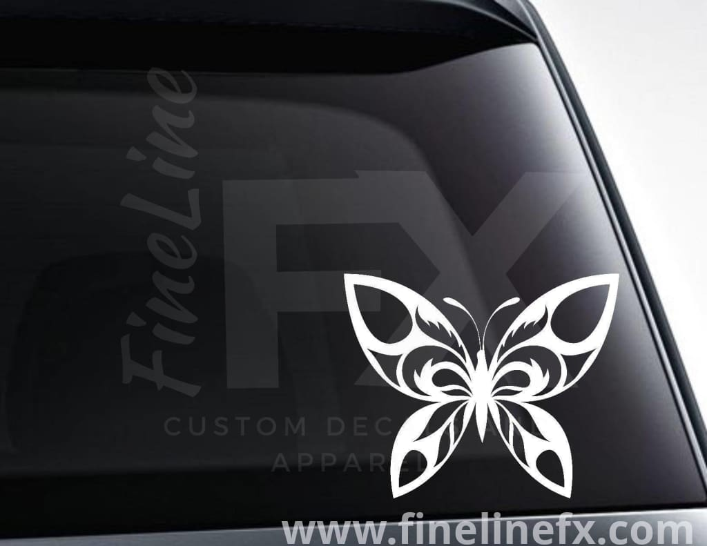 Tribal Butterfly Vinyl Decal Sticker