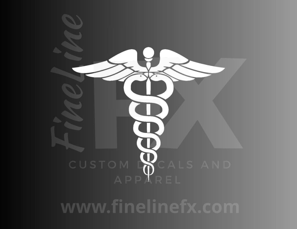 Caduceus Medical Symbol Vinyl Decal Sticker
