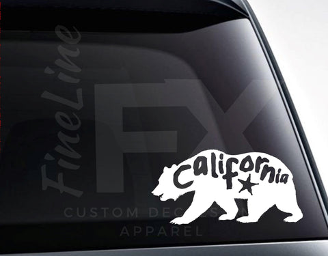 California Bear Vinyl Decal Sticker