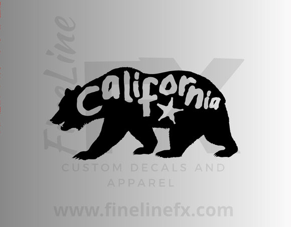 California Bear Vinyl Decal Sticker - FineLineFX