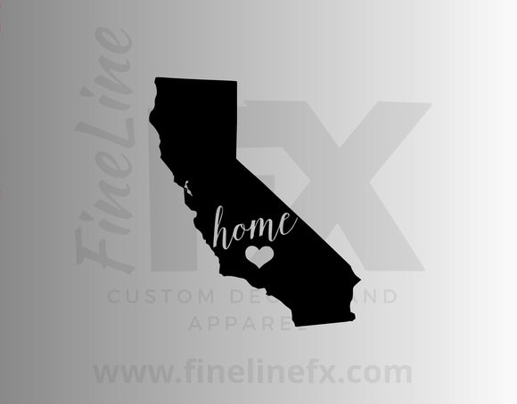 California Home State Vinyl Decal Sticker