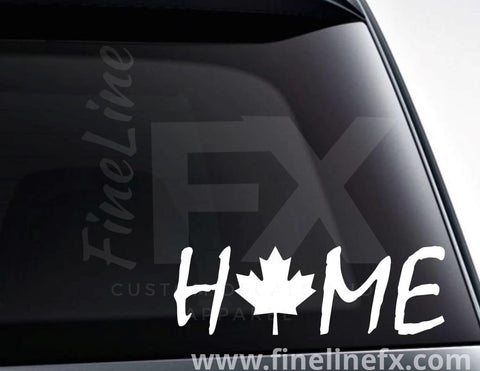 Canada Maple Leaf Home Vinyl Decal Sticker