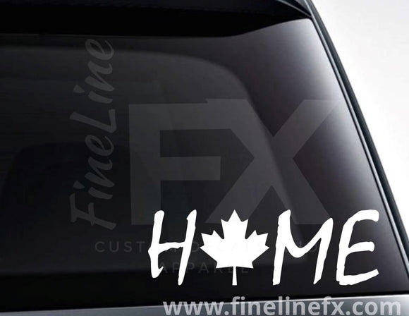 Canada Maple Leaf Home Vinyl Decal Sticker - FineLineFX