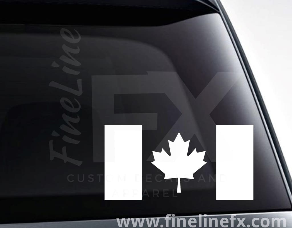 Canadian Flag Canada Maple Leaf Vinyl Decal Sticker